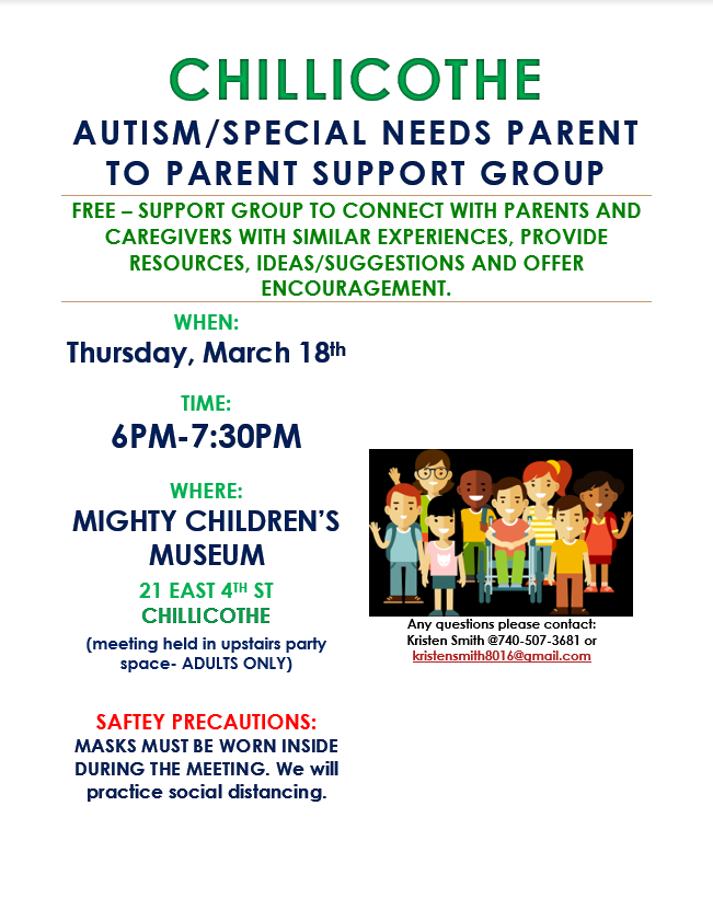 flyer for autism meeting